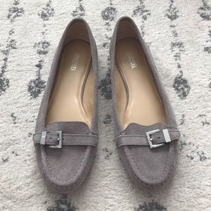 🍂 MICHAEL Michael Kors Grey Suede Loafers
